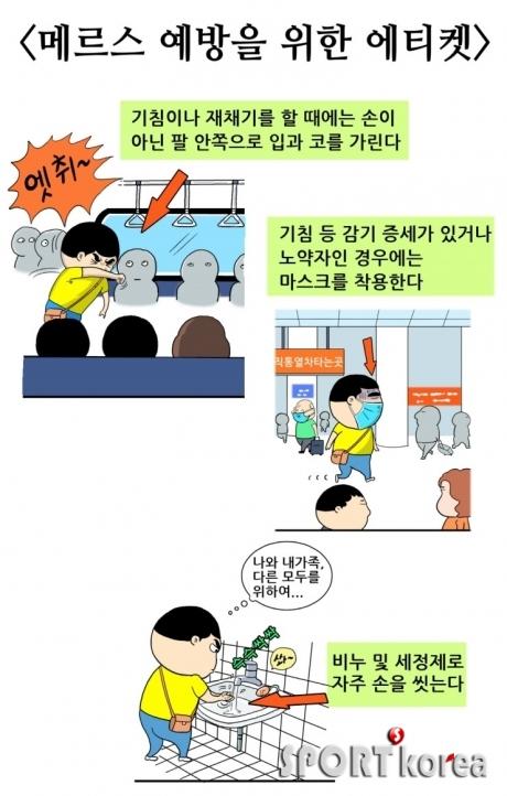 ``메르스 확산 막자``   예방 위한 지하철 에티켓 만화 등장