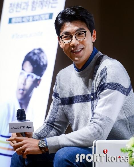 정현 `한국 테니스 희망의 미소`