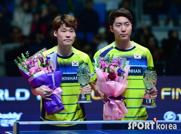 장우진-임종훈, 역대 4번째 그랜드파이널 남자복식 우승
