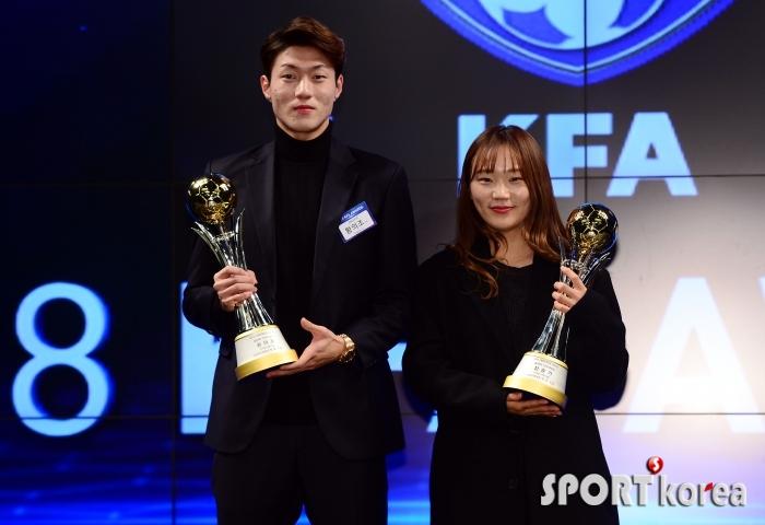 `황의조-장슬기` KFA를 빛낸 올해의 선수!