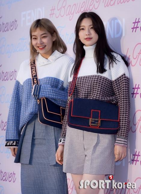 송혜나-김진경 `사이좋게 커플룩으로~`