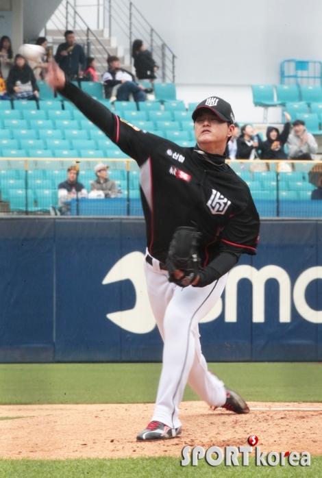 김민, 승리를 향한 투구