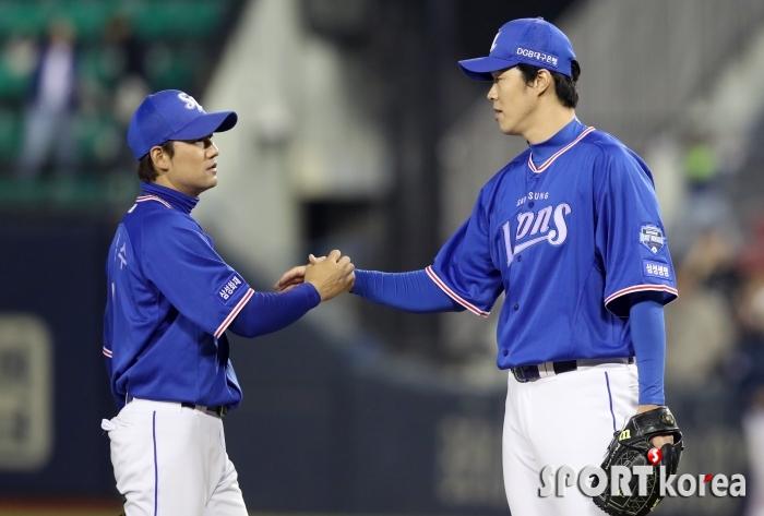 김상수-장필준, `우리가 이겼어!`