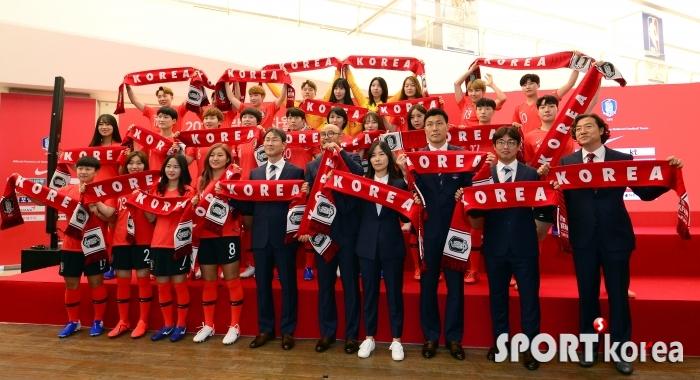 여자축구 대표팀 `가자! 프랑스`