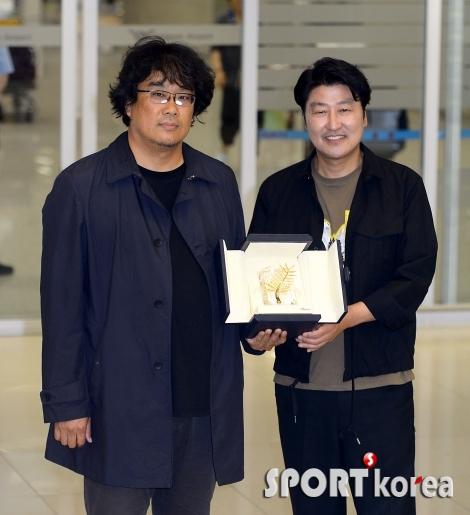 봉준호 감독-송강호 `이게 황금종려상입니다`