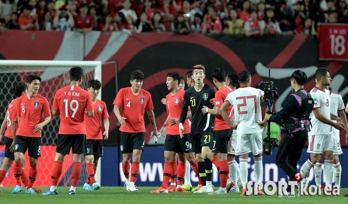 한국, 이란과 아쉬운 1-1 무승부!