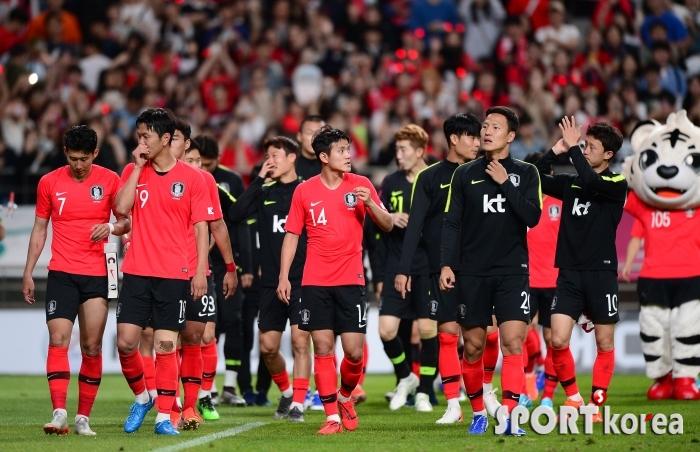 무승부가 아쉬운 대표팀