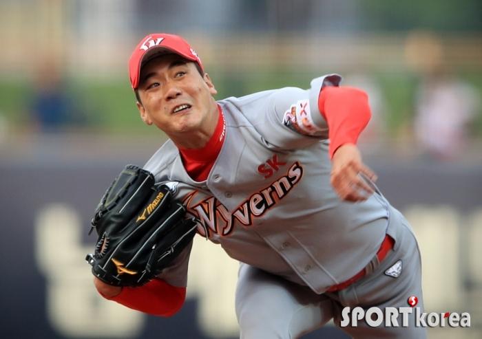 김광현, 시즌 8승을 향한 투구