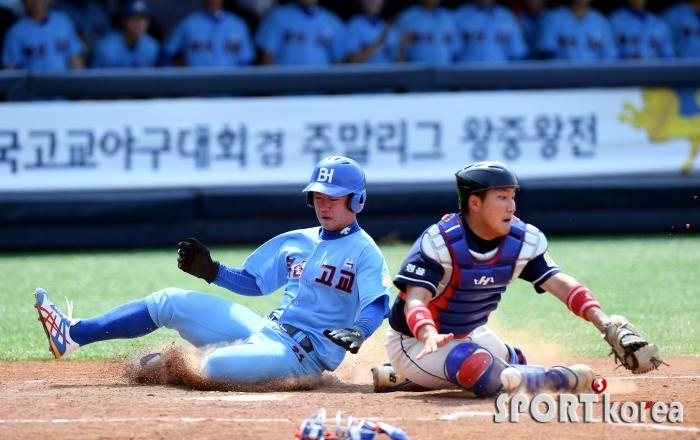 정현수, 송구 실책으로 동점 득점!