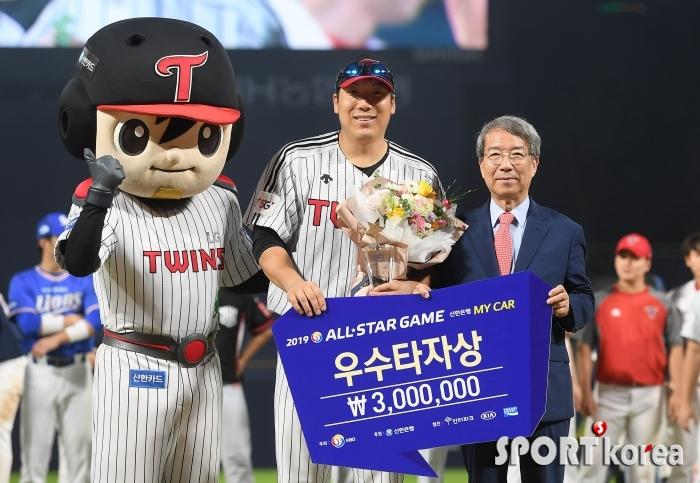 김현수 `우수타자상 받습니다!`