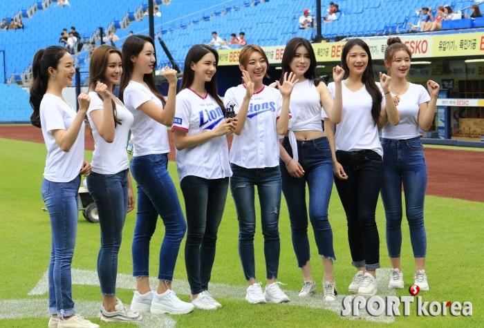 미스코리아 수상자들의 삼성 화이팅!