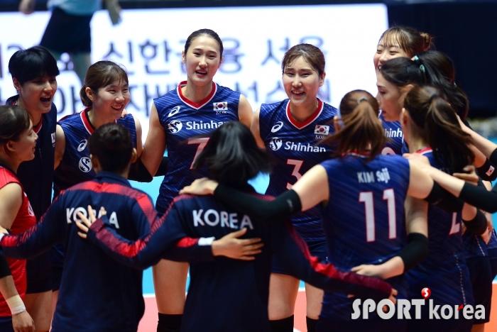 여자 배구대표팀, 홍콩에 3-0 완승