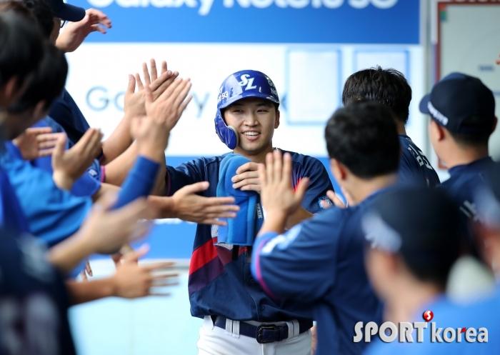 박해민, 기분 좋은 득점