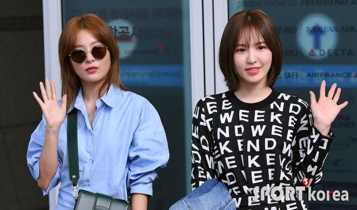 레드벨벳 슬기-웬디, 화보 촬영 `뉴욕으로 가자~`