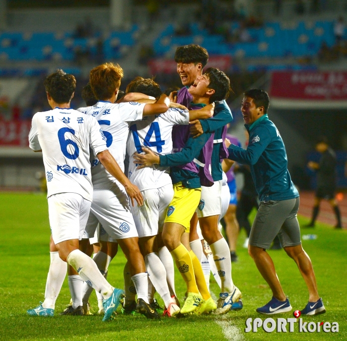 대전코레일, 이근원 동점골로 1-1 무승부