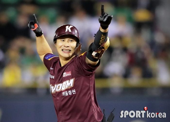 환호하는 김하성