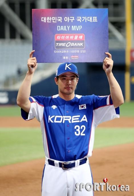 김재환 `2차전 데일리 MVP!`