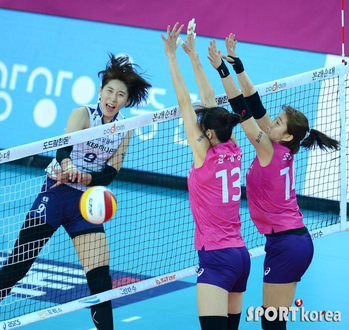 박정아, 23득점 맹활약...팀 4위 도약