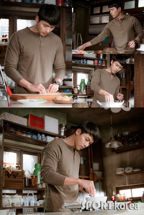 `사랑의 불시착` 현빈, 카리스마 넘치는 군인에서 섬세한 요리사로?