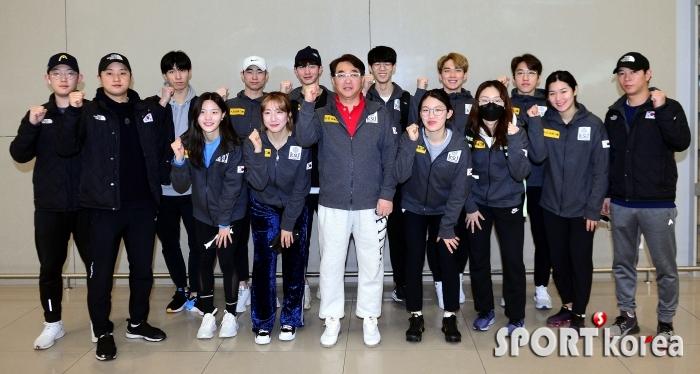 금의환향 쇼트트랙 국가재표팀!