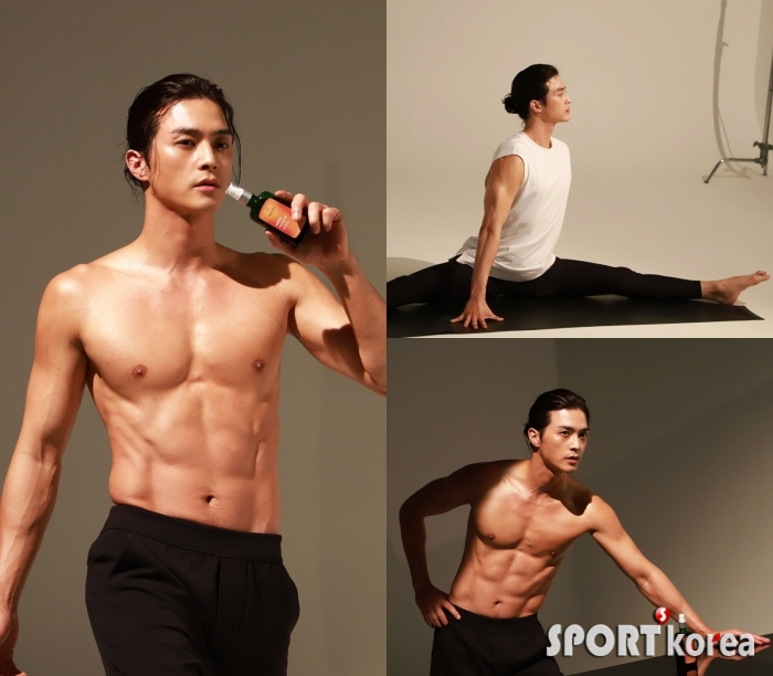 배우 김지훈, 완벽복근 압도적 근육질 몸매