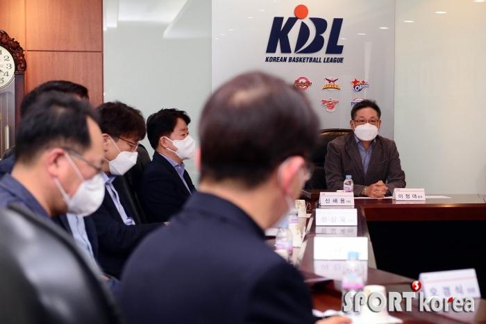 이정대 총재 `시즌 조기 종료 후속 대책 논의`