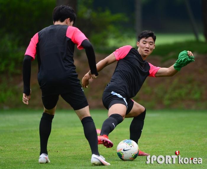 홍시후 `생애 첫 대표팀 훈련`
