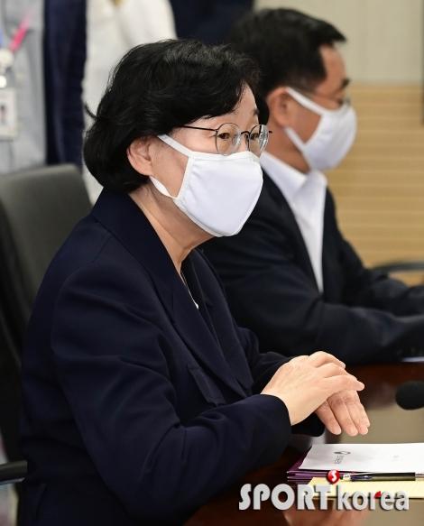 고 최숙현 인권침해 관련 회의 참석한 이정옥 장관