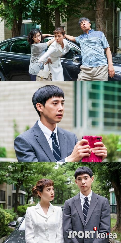 '출사표' 패션화보 뺨치는 나나 가족사진 포즈, 박성훈 당황
