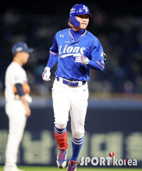 삼성 박해민, 은근히 기분 좋은 3점 홈런