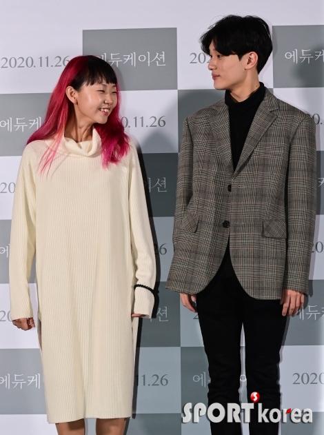 문혜인-김준형 `긴장감 가득한 포토타임`