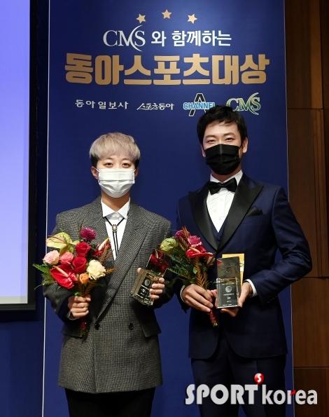 김효주-김태훈 `선수들이 뽑아서 더욱 의미 있는 상이에요~`
