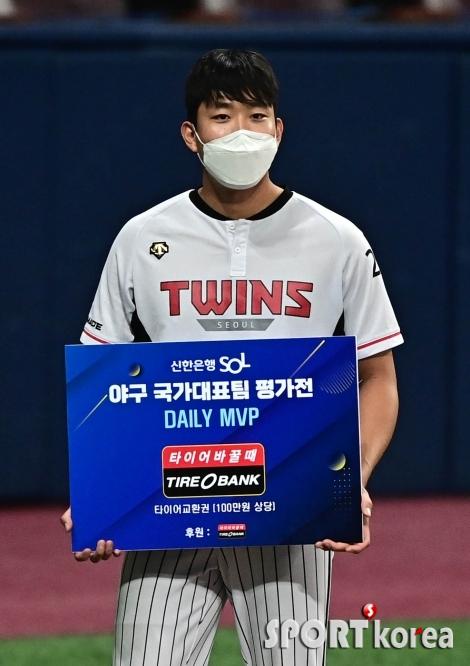 호투 펼친 LG 손주영 `데일리 MVP`