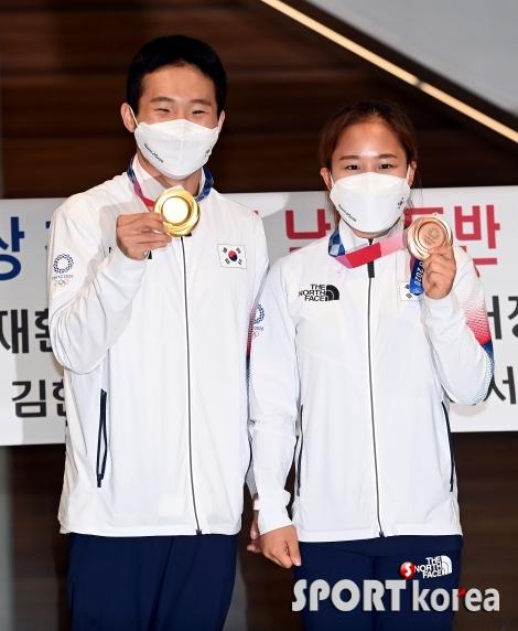 신재환-여서정, 너무 기쁜 금-동메달!
