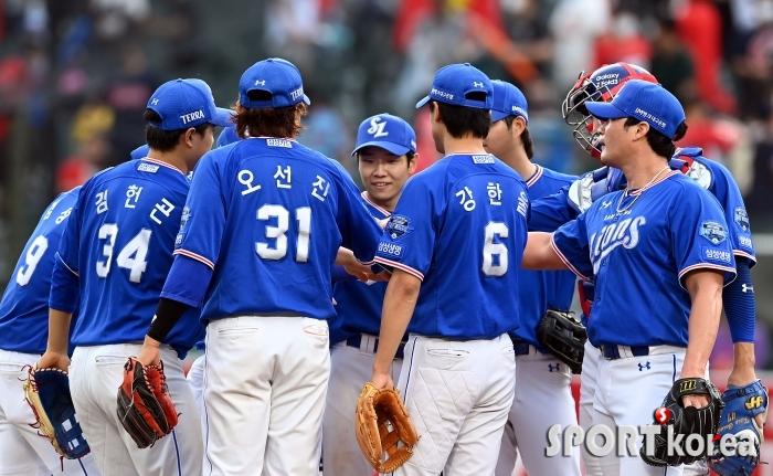 삼성, 롯데를 상대로 접전끝에 11-9 승리!